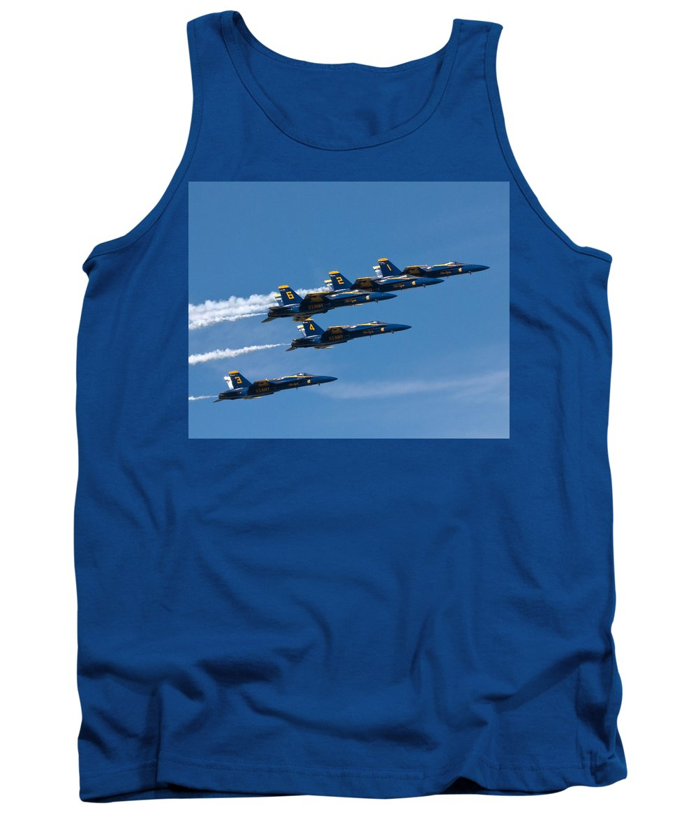 Tank Top featuring the photograph Blue Angels by Rick Selin