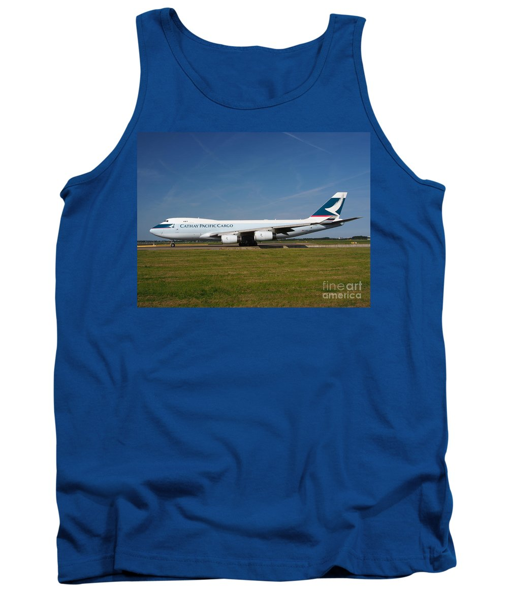 737 Tank Top featuring the photograph Cathay Pacific Boeing 747 by Paul Fearn