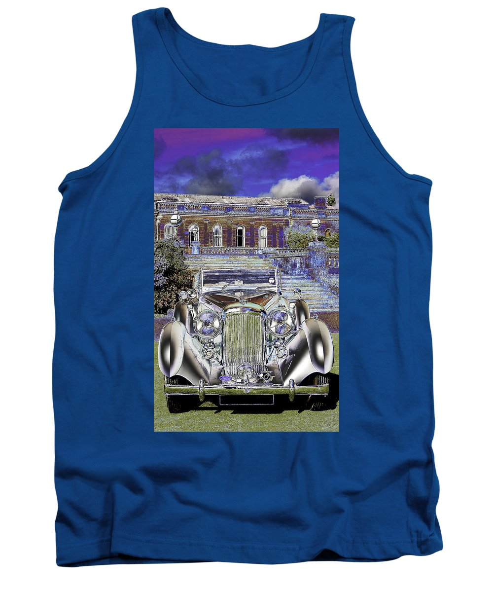 Psychedelic Tank Top featuring the photograph Psychedelic Classic Lagonda by Peter Lloyd