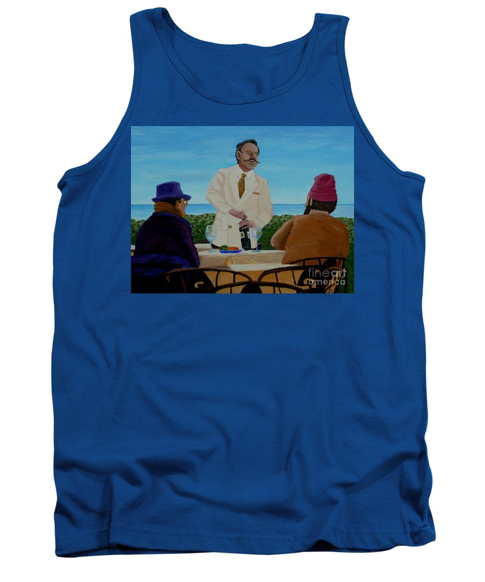 Wine Tank Top featuring the painting A Fresh Bottle by Anthony Dunphy