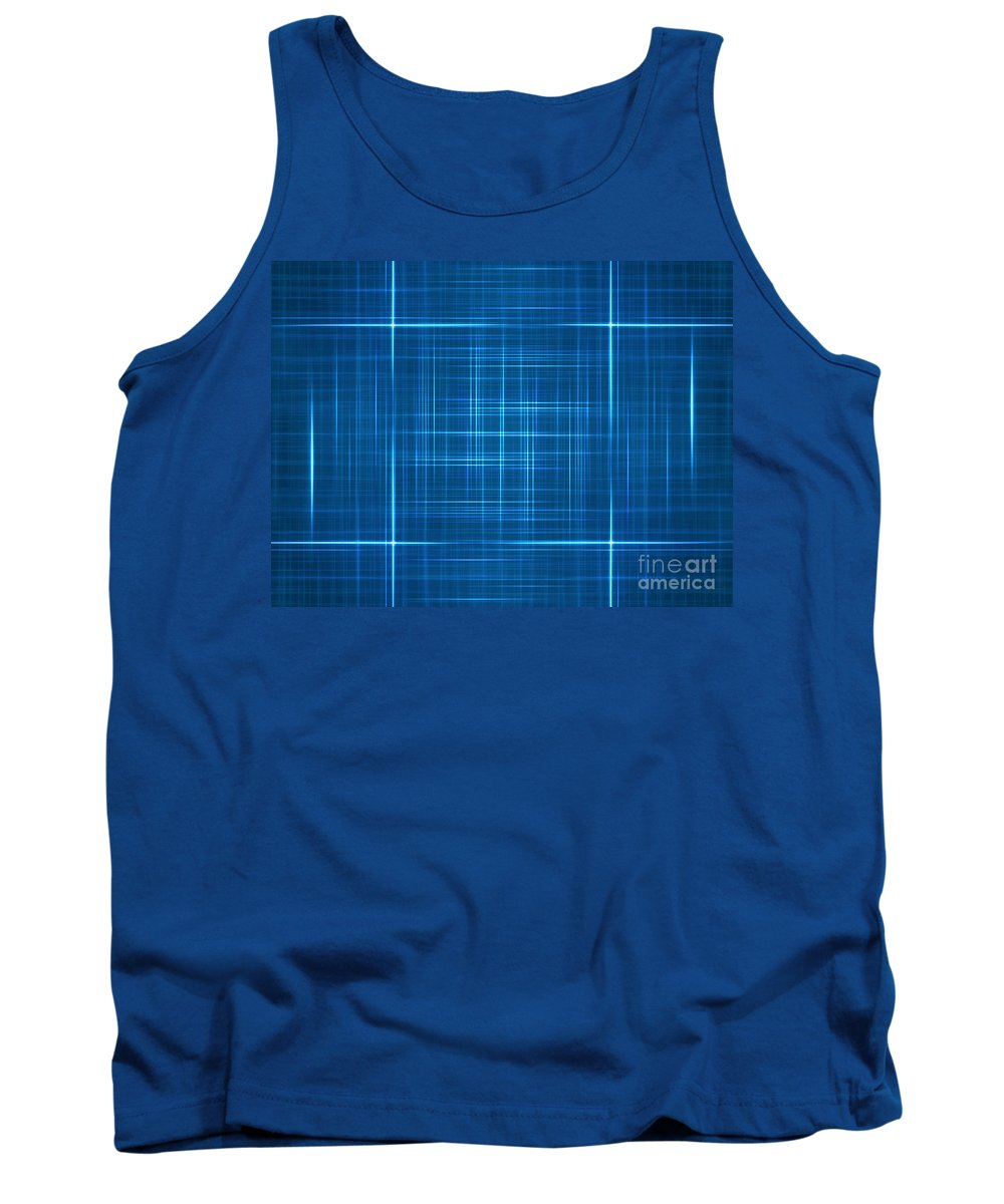 Abstract Tank Top featuring the digital art Abstract Blue by Dan Radi