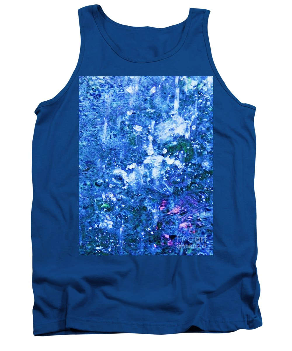 Abstract Tank Top featuring the photograph Abstract Splashing Water by Eric Schiabor