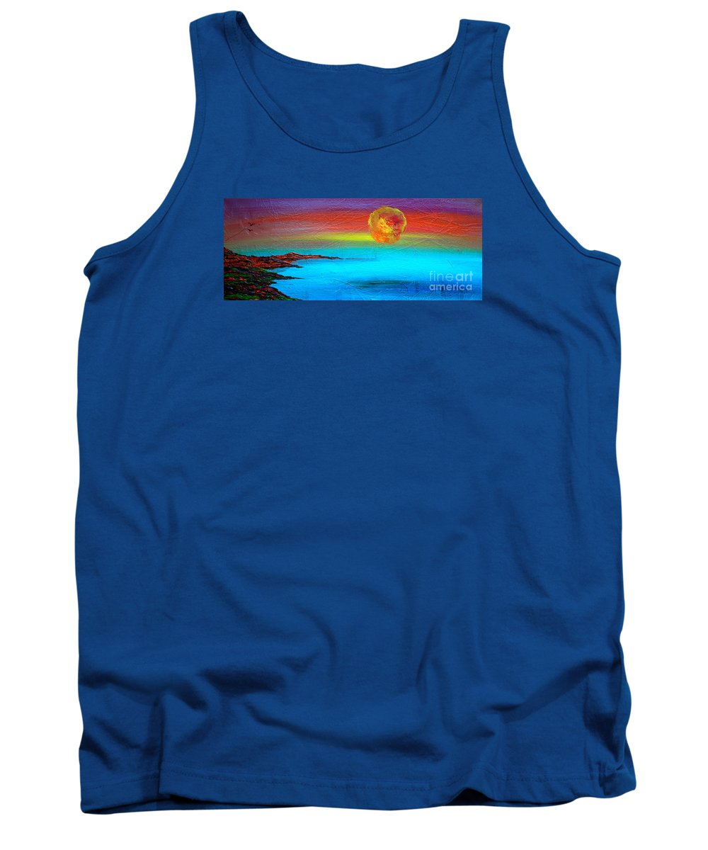 Sunset Tank Top featuring the photograph African Son by Jacqueline Athmann