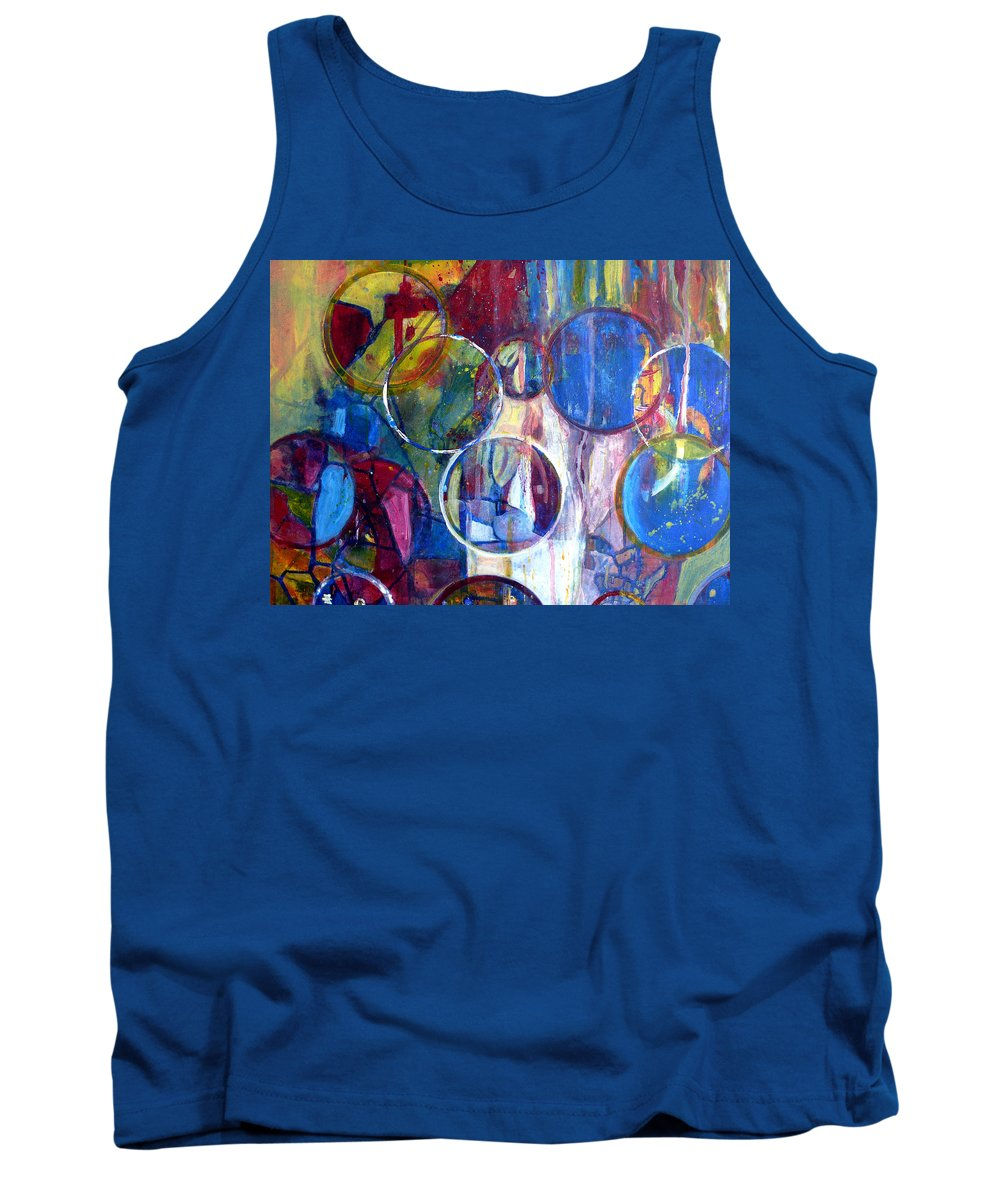 Rain Tank Top featuring the painting Against The Rain II by Anna Ruzsan