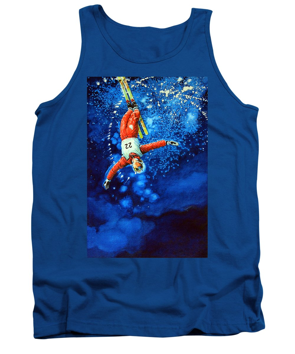 Sports Art Tank Top featuring the painting Air Force by Hanne Lore Koehler