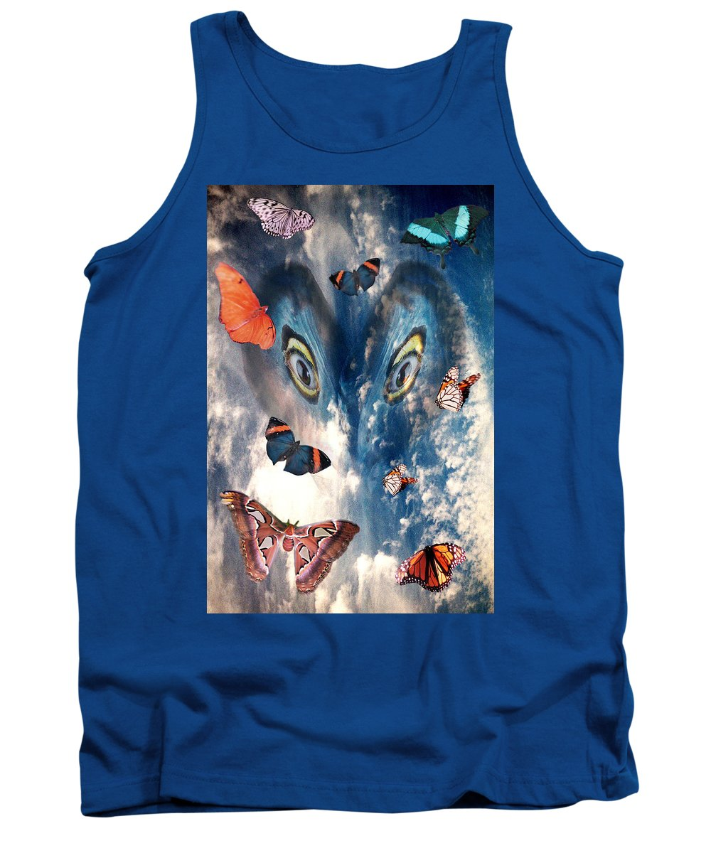Air Tank Top featuring the digital art Air by Lisa Yount