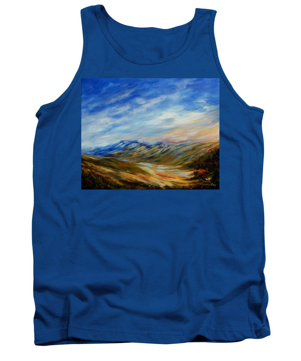 Alberta Moment Tank Top featuring the painting Alberta Moment by Joanne Smoley