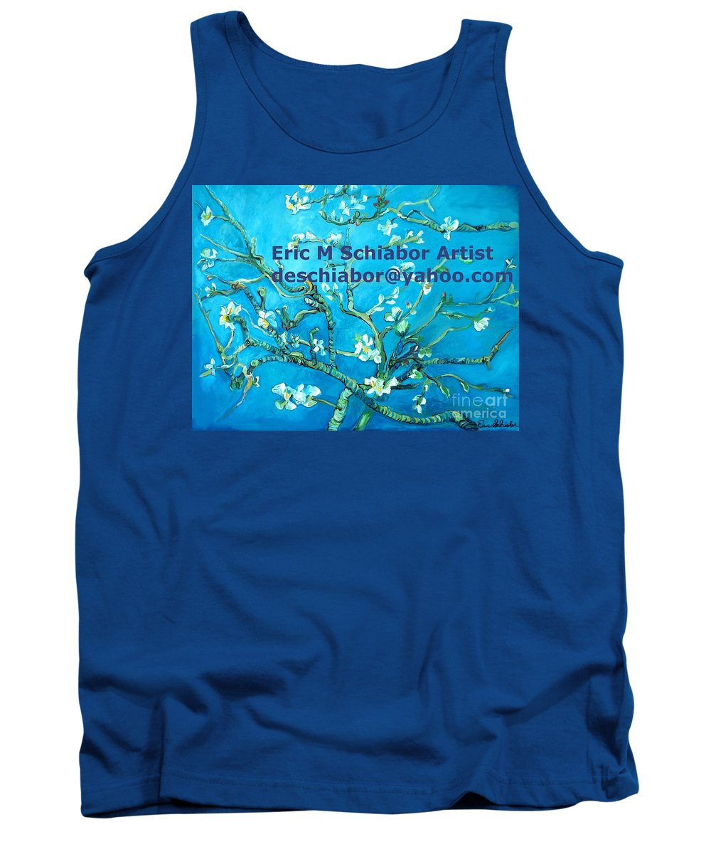 Almond Blossom Van Gogh Tank Top featuring the painting Almond Blossom Branches by Eric Schiabor