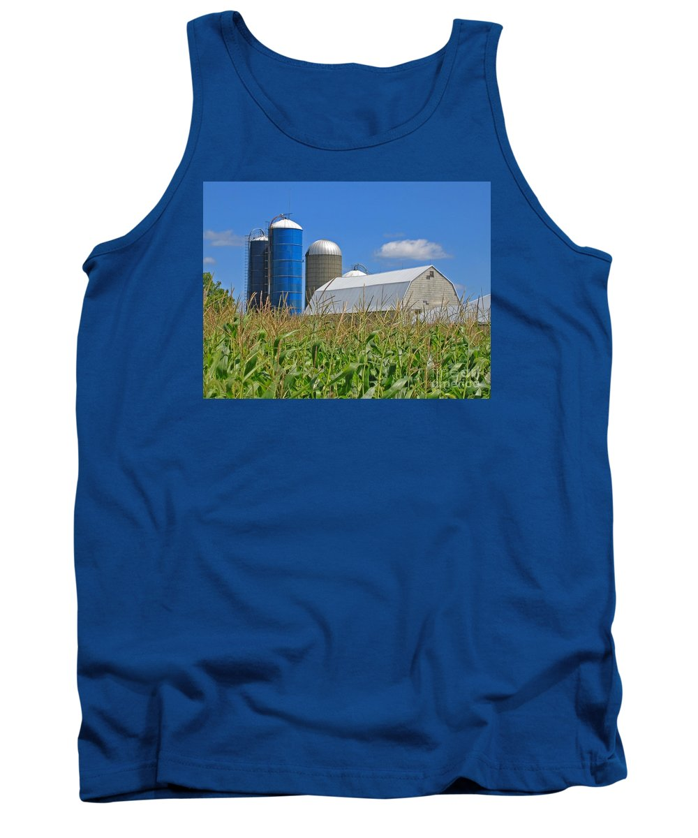 Harvest Tank Top featuring the photograph Almost Harvest Time by Ann Horn