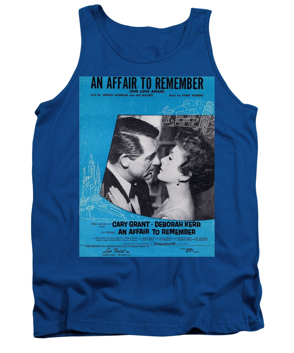 Nostalgia Tank Top featuring the photograph An Affair To Remember by Mel Thompson