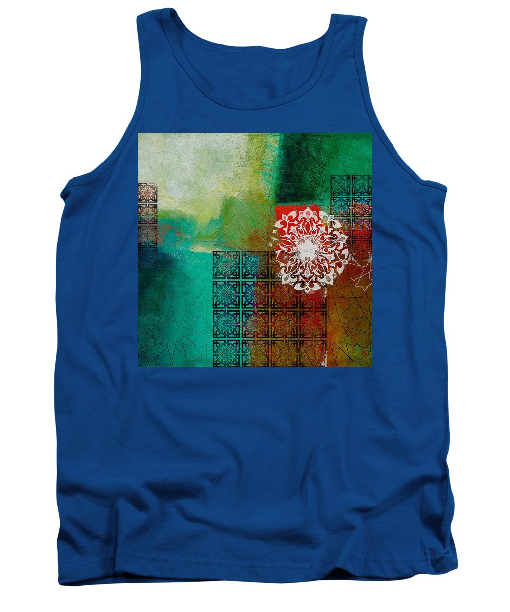 Dubai Expo 2020 Tank Top featuring the painting Arabic Motif 6 by Corporate Art Task Force