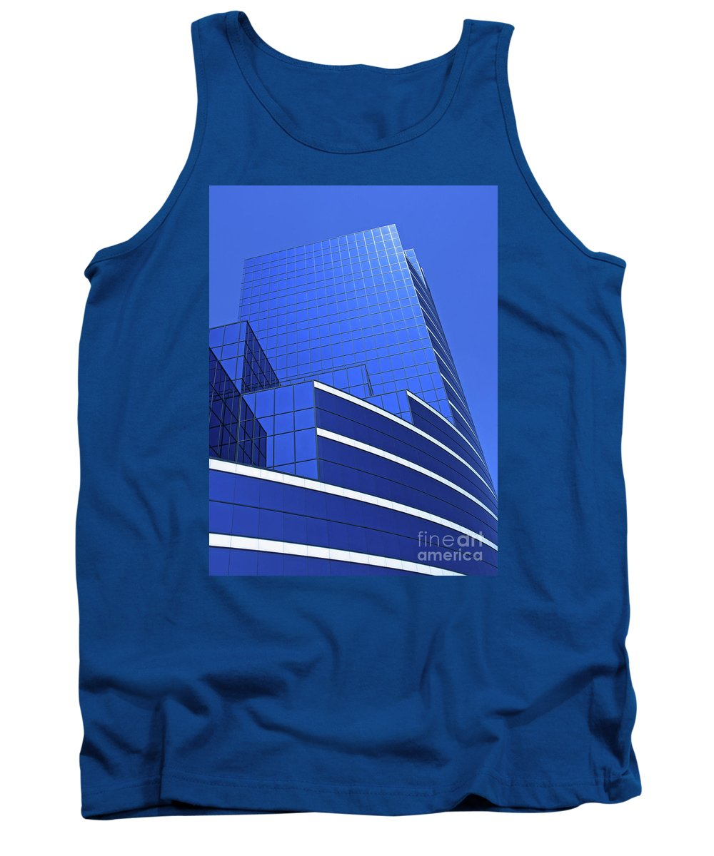 Architecture Tank Top featuring the photograph Architectural Blues by Ann Horn