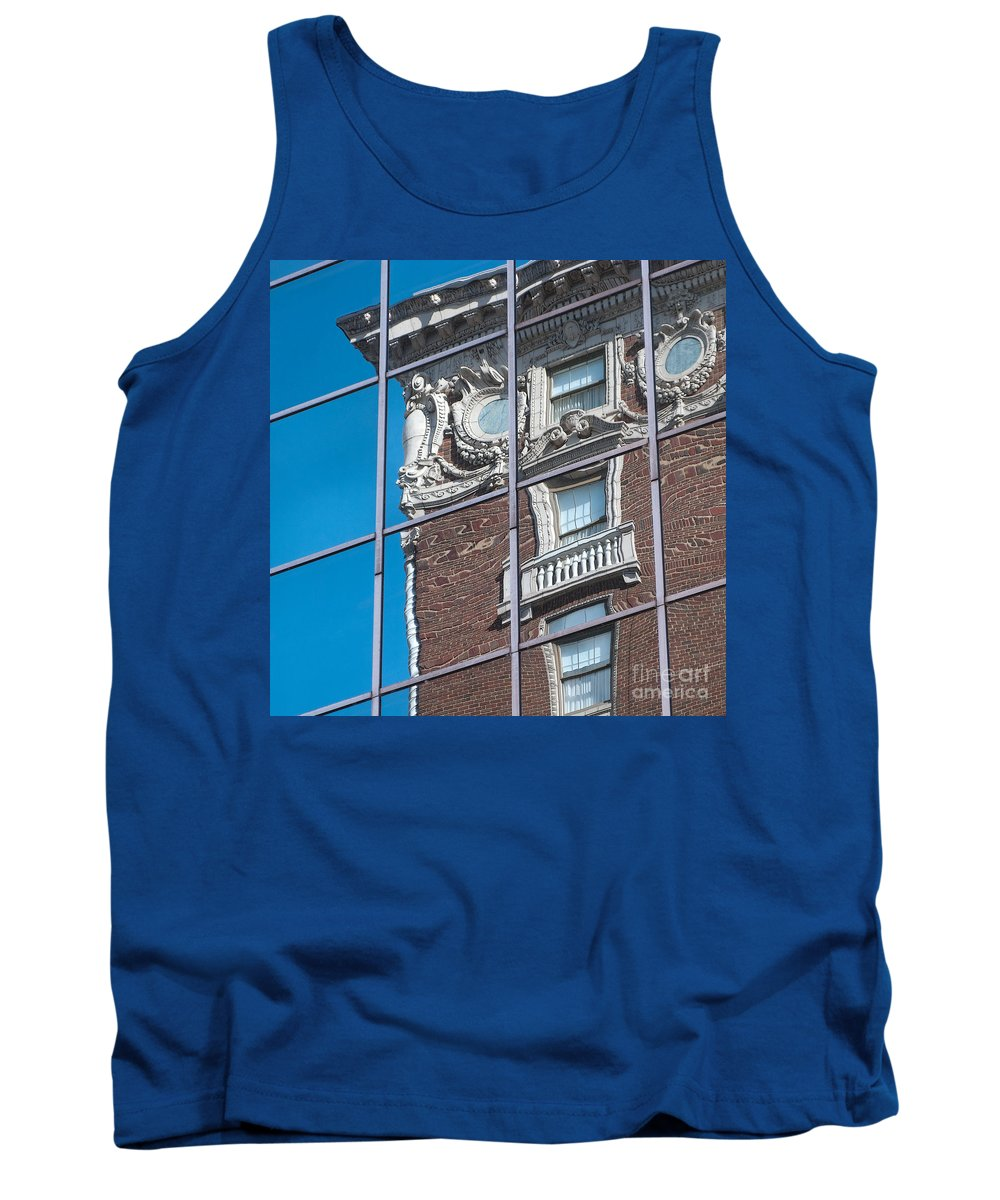 Reflection Tank Top featuring the photograph Architectural Juxtaposition by Ann Horn