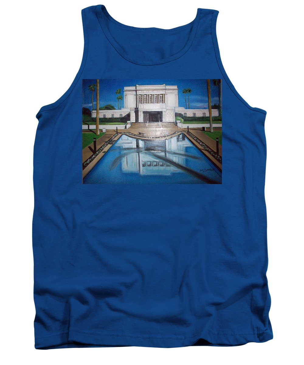 Tank Top featuring the painting Architectural Landscape by Jude Darrien