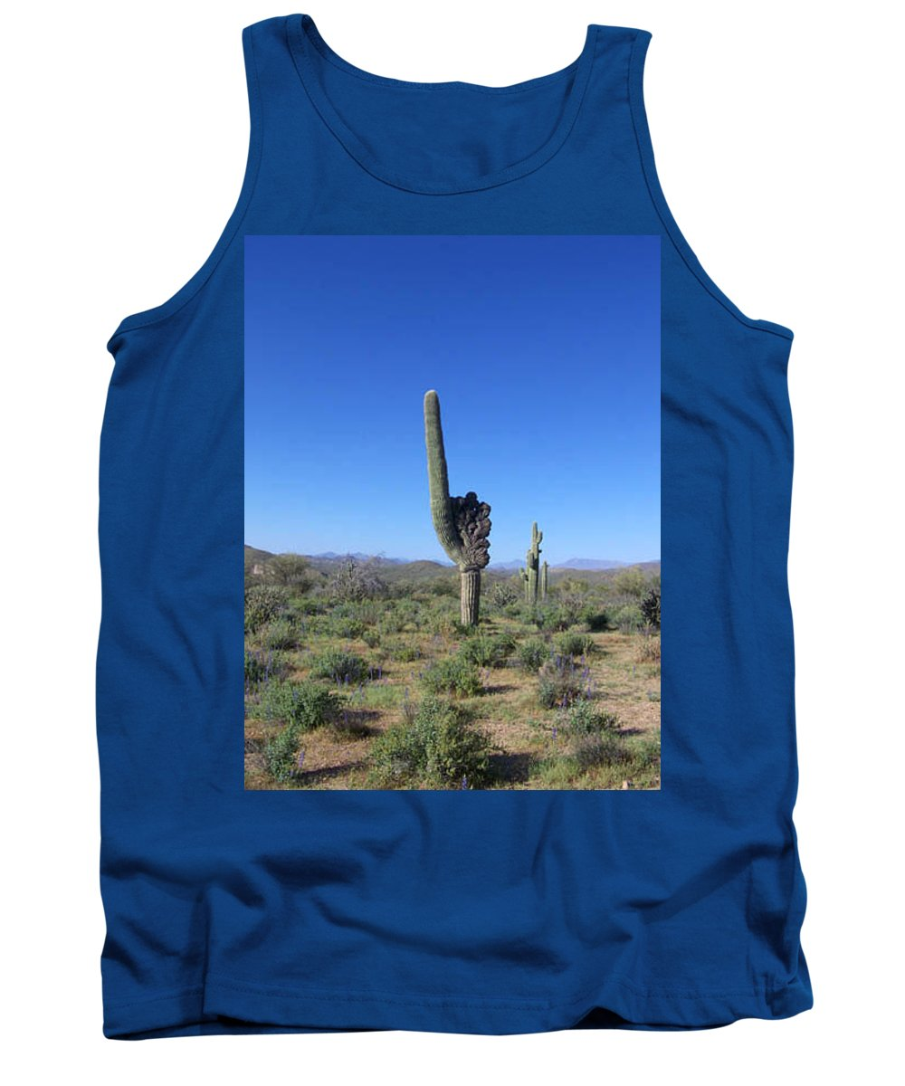 Sahuaro Tank Top featuring the photograph Arizona Is Number One by Kathy McClure