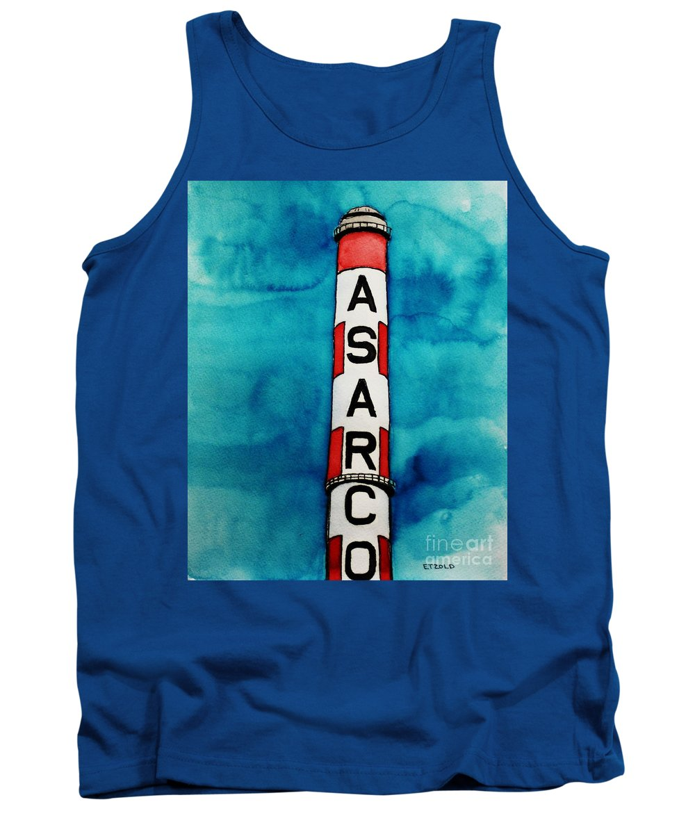 Asarco Tank Top featuring the painting Asarco In Watercolor by Melinda Etzold