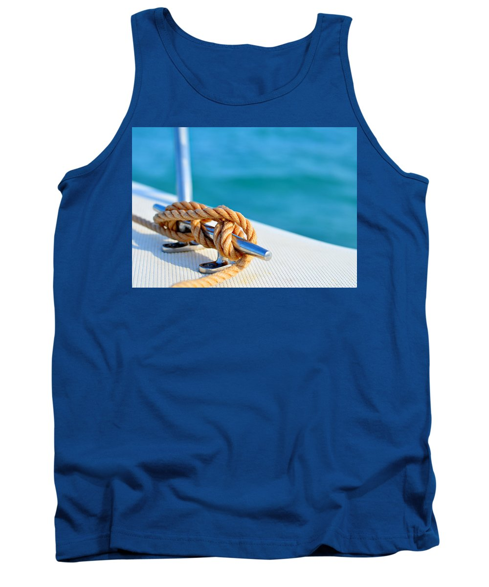 Laura Fasulo Tank Top featuring the photograph At Sea by Laura Fasulo