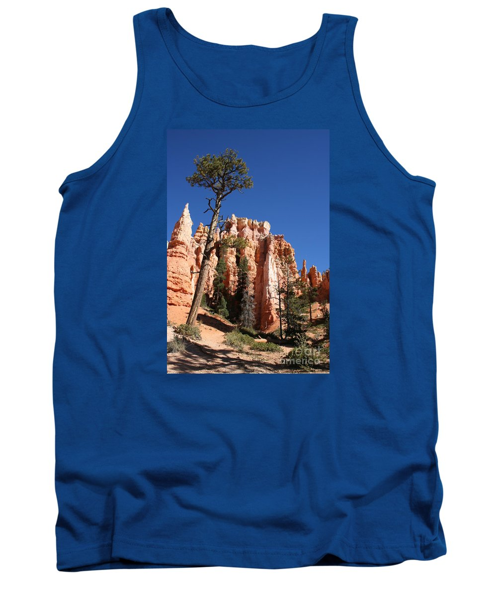 Canyon Tank Top featuring the photograph At The Bottom Of The Bryce Np by Christiane Schulze Art And Photography