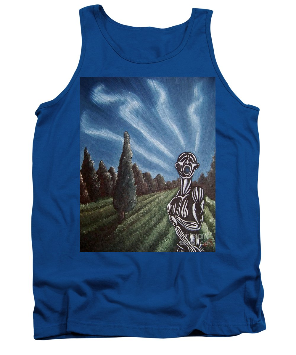 Tmad Tank Top featuring the painting Aurora by Michael TMAD Finney