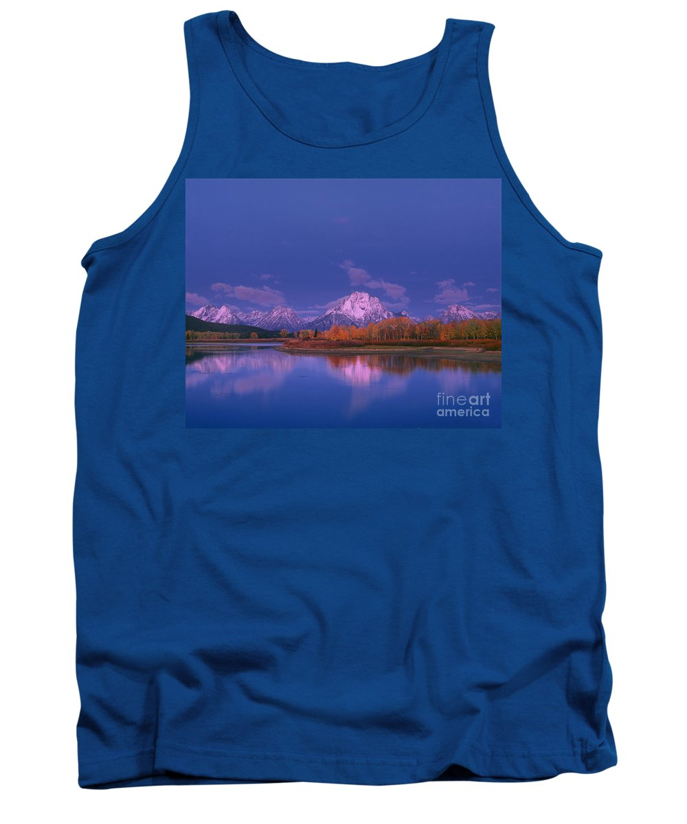 Dave Welling Tank Top featuring the photograph Autumn Morning Grand Tetons National Park Wyoming by Dave Welling