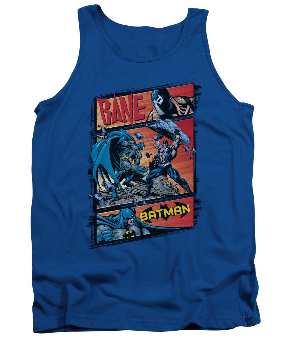 Batman Tank Top featuring the digital art Batman - Epic Battle by Brand A