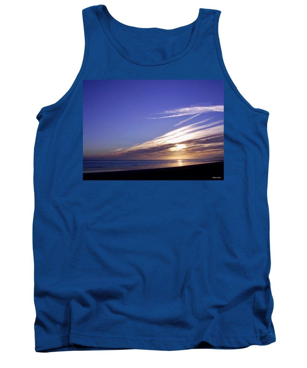 Beach Blue Sunset Tank Top featuring the photograph Beach Blue Sunset by Barbara St Jean