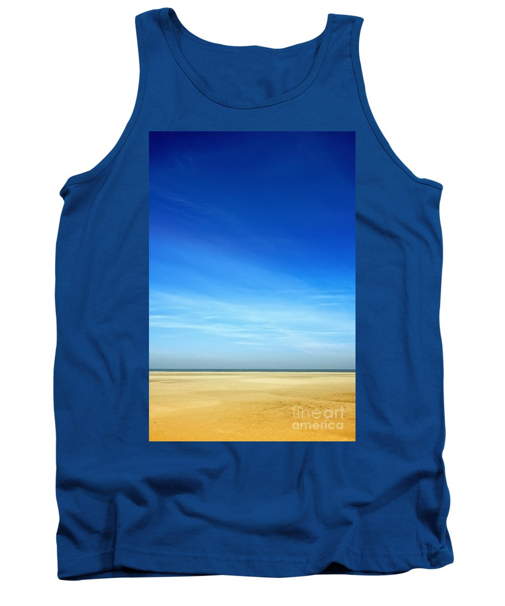 Ameland Tank Top featuring the photograph Beach Scene by Jan Brons