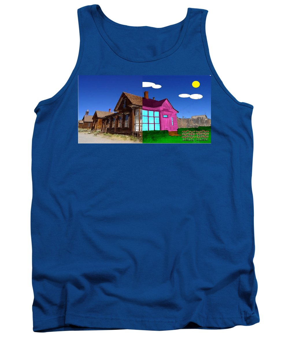 Half Tank Top featuring the painting Before And After House by Bruce Nutting