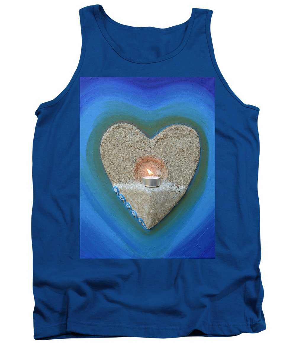 Cyprus Tank Top featuring the painting Believe by Catt Kyriacou