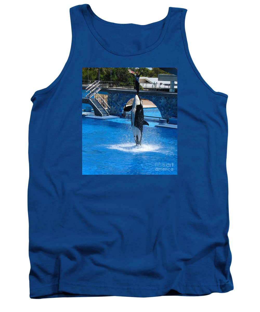 Orca Whale Photography Tank Top featuring the photograph Believe by Lingfai Leung