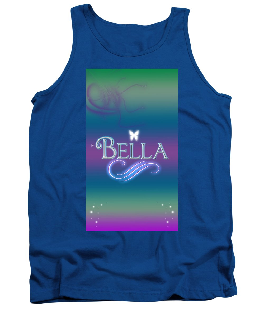 fcbd5deb4b389 Abby Tank Top featuring the digital art Bella Name Art by Becca Buecher
