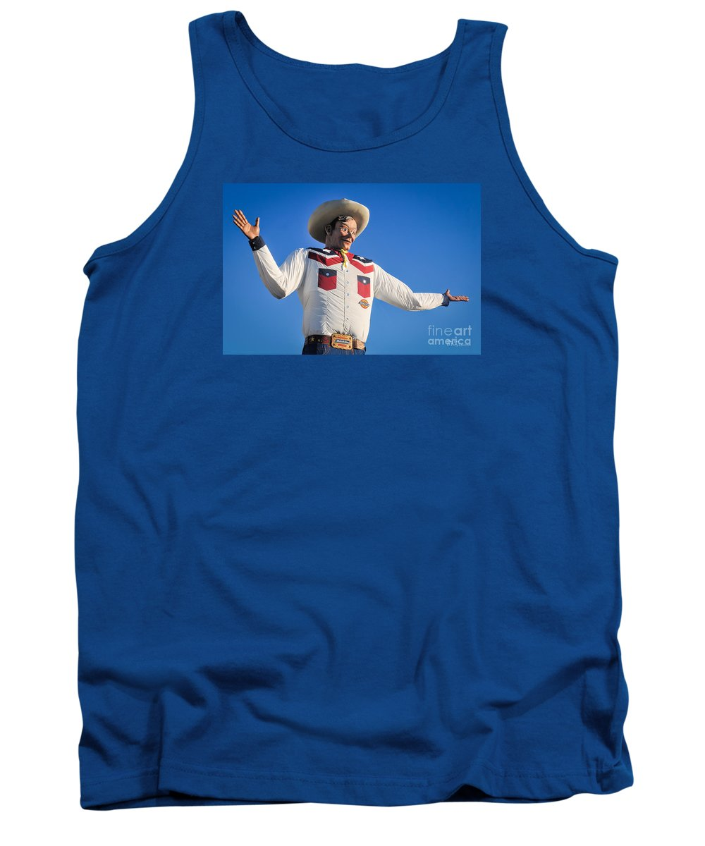 Big Tex Tank Top featuring the photograph Big Tex - State Fair Of Texas - No. 2 By D. Perry Lawrence by David Perry Lawrence