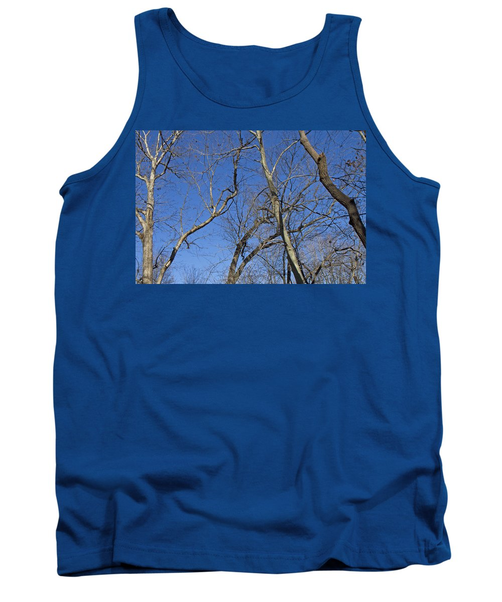 Woods Tank Top featuring the photograph Blue by Betsy Knapp