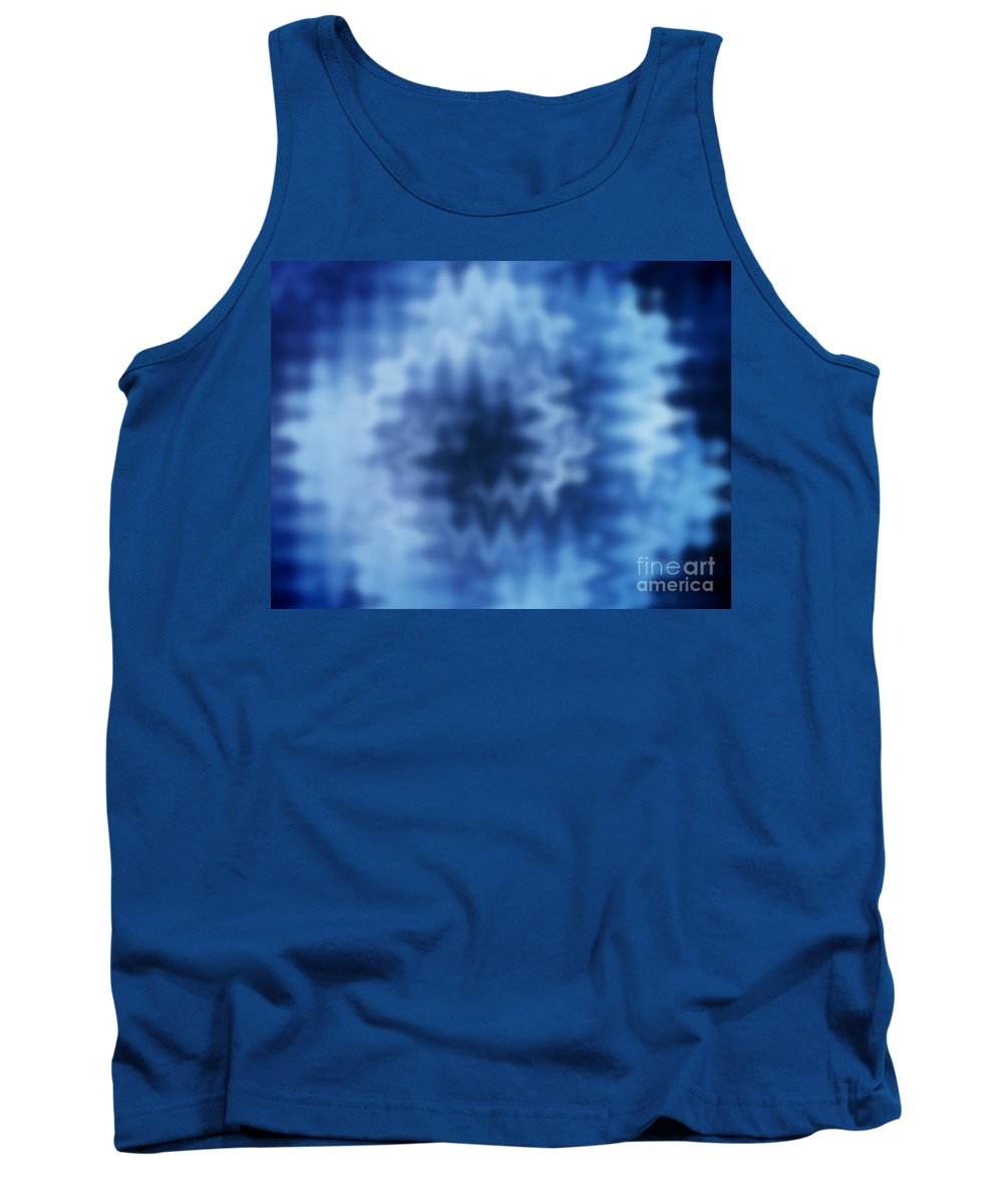 Blue Tank Top featuring the photograph Blue Blur by Tim Hester