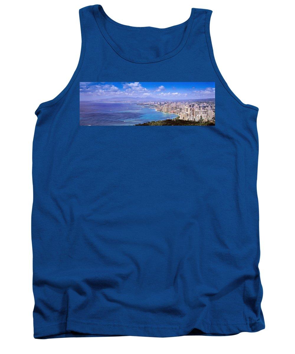Waikiki Tank Top featuring the photograph Blue Hawaii by Les Palenik