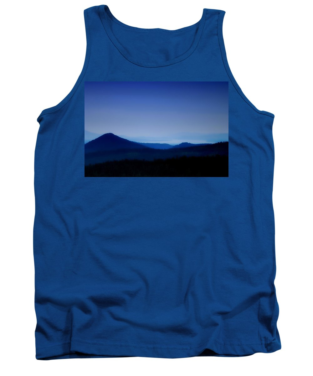 Mountains Tank Top featuring the photograph Blue Horizon by Donna Blackhall