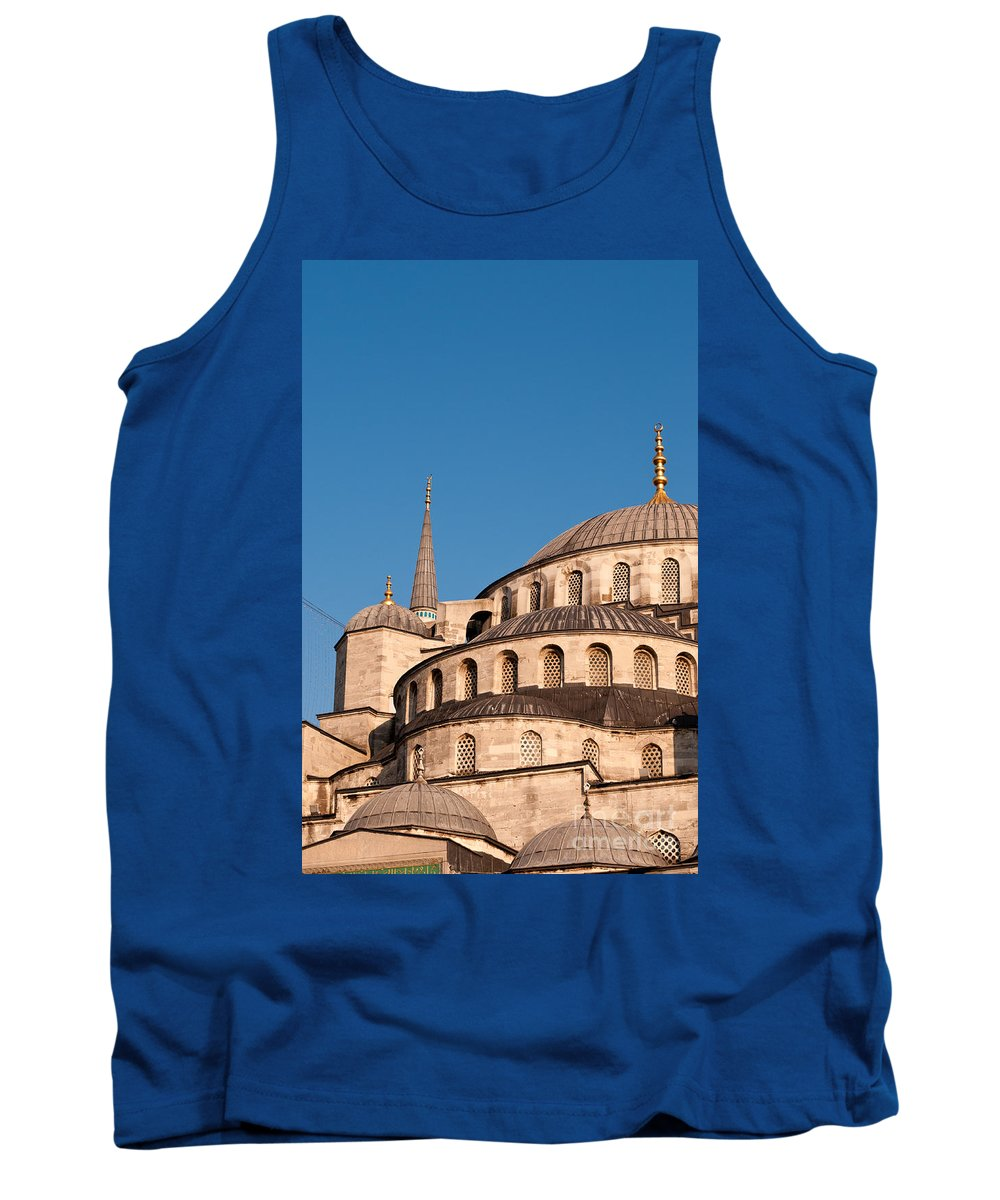 Istanbul Tank Top featuring the photograph Blue Mosque Domes 07 by Rick Piper Photography