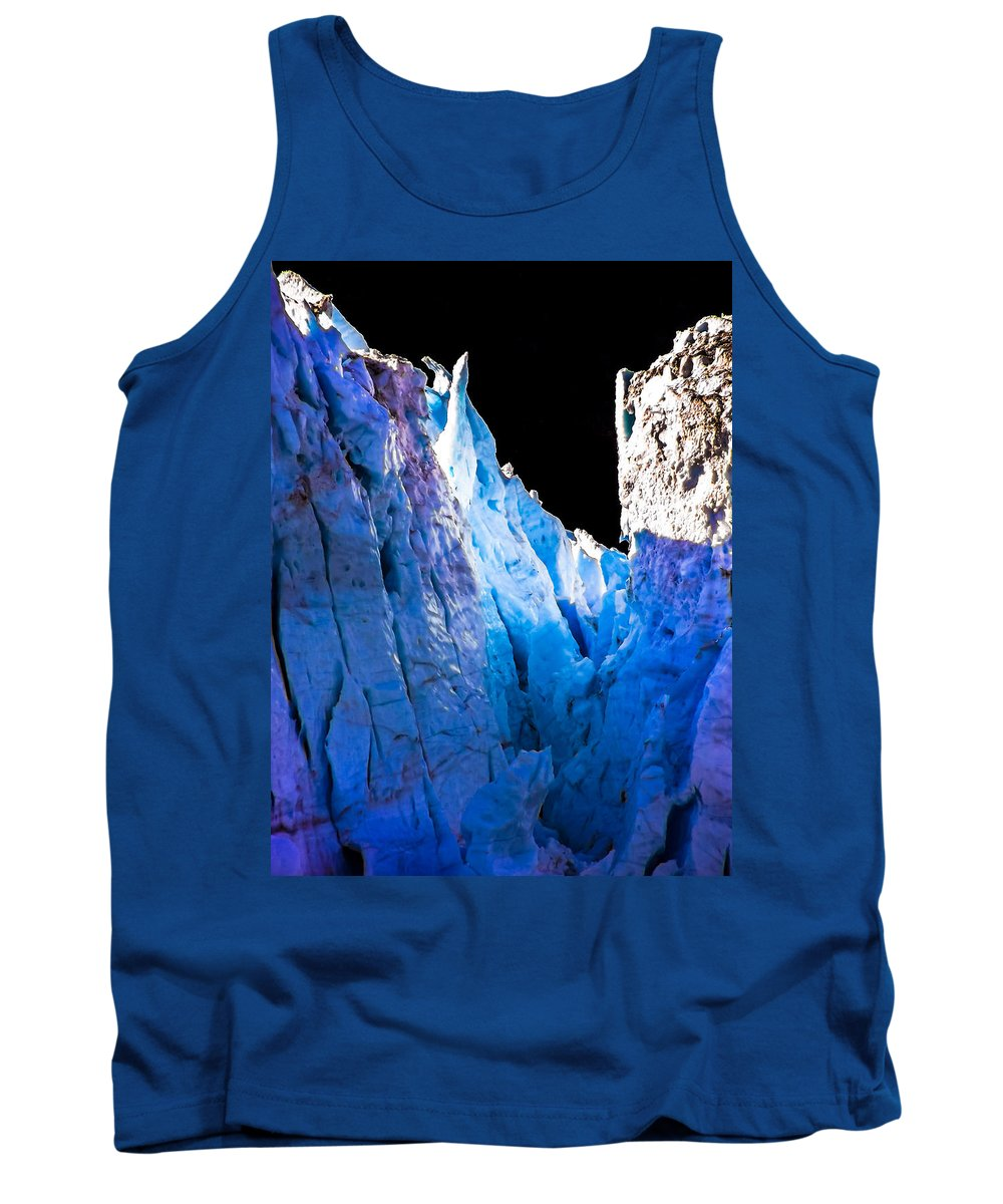 Iceberg Tank Top featuring the photograph Blue Shivers by Karen Wiles