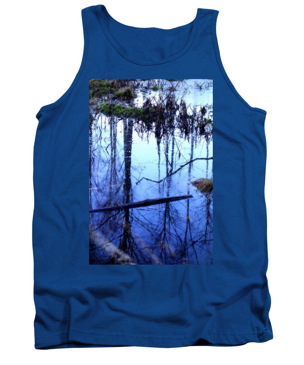 Horse Tank Top featuring the photograph Still Blue Water Is My Mirror by Hilde Widerberg