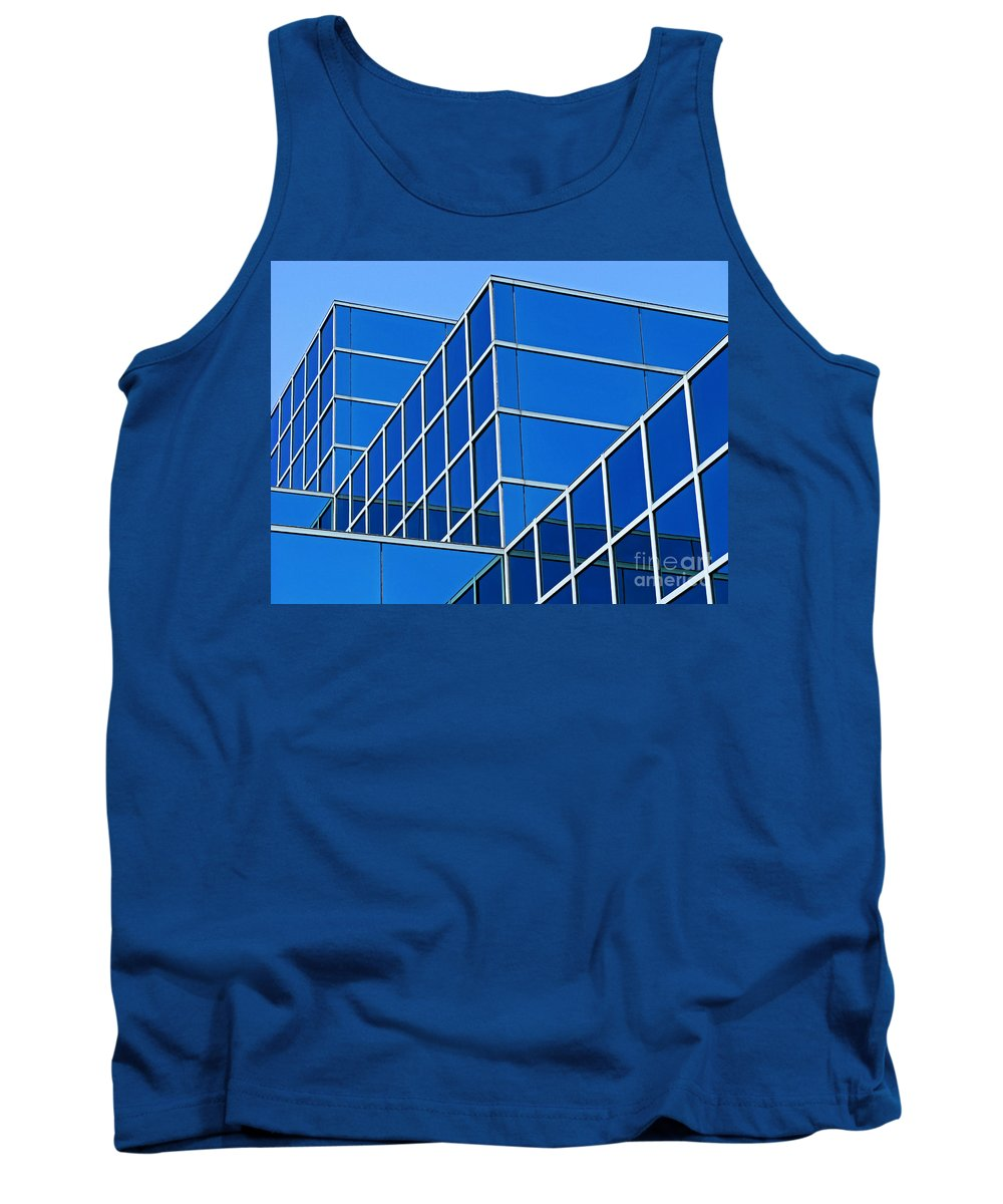 Building Tank Top featuring the photograph Boldly Blue by Ann Horn