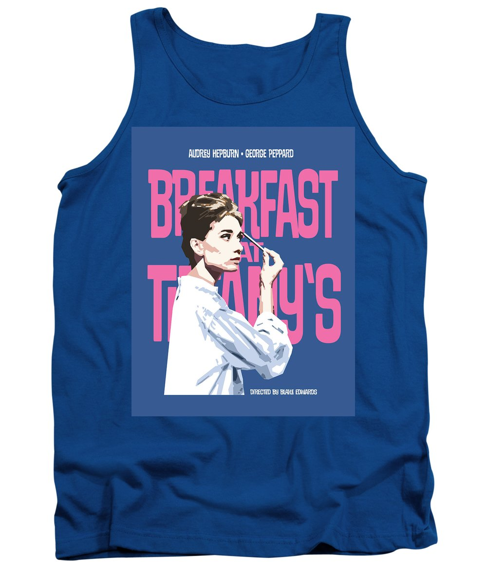 Breakfast At Tiffany's Tank Top featuring the digital art Breakfast At Tiffany's by Douglas Simonson