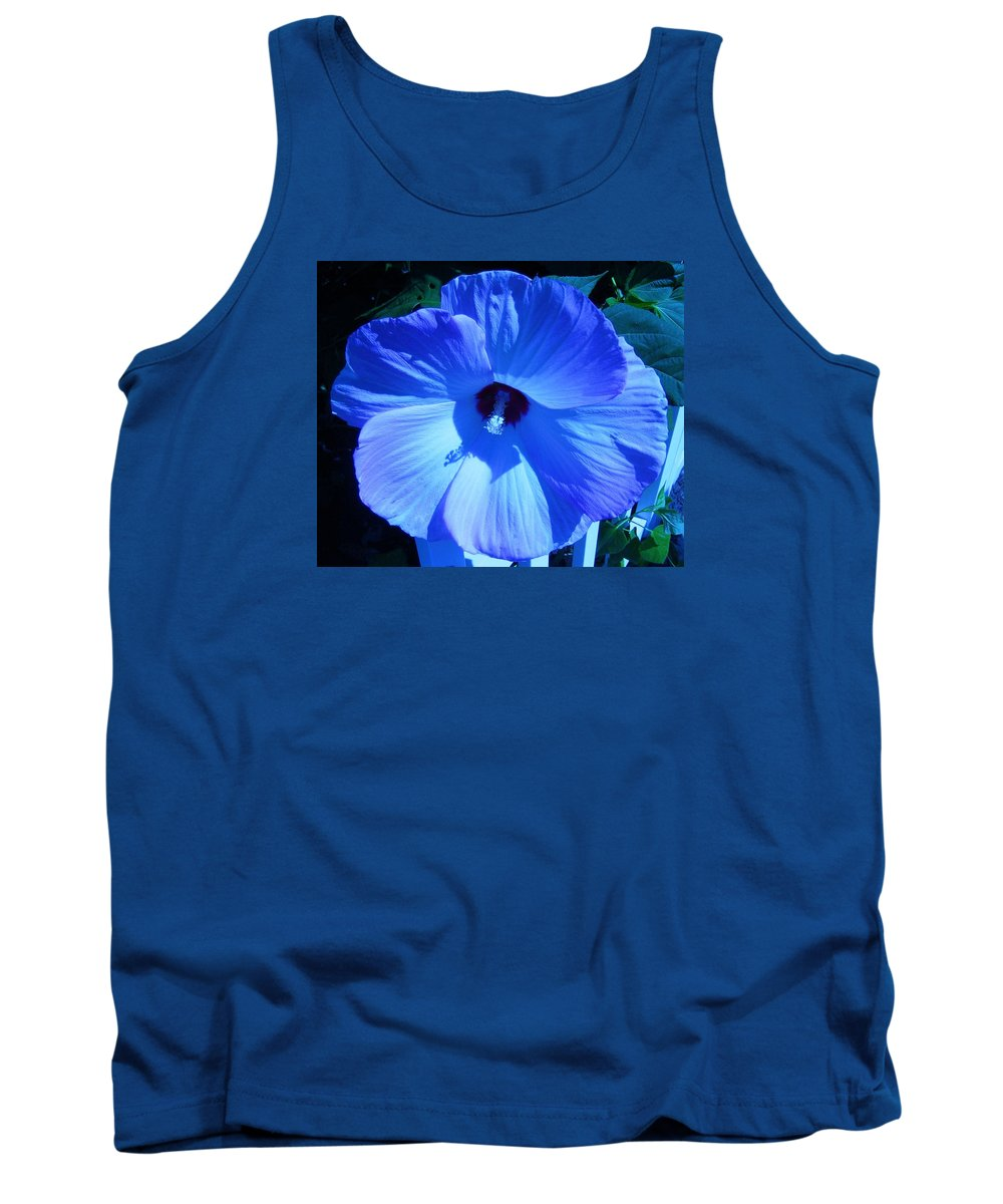Blue Tank Top featuring the photograph Brilliant Blue by Lillian Hibiscus