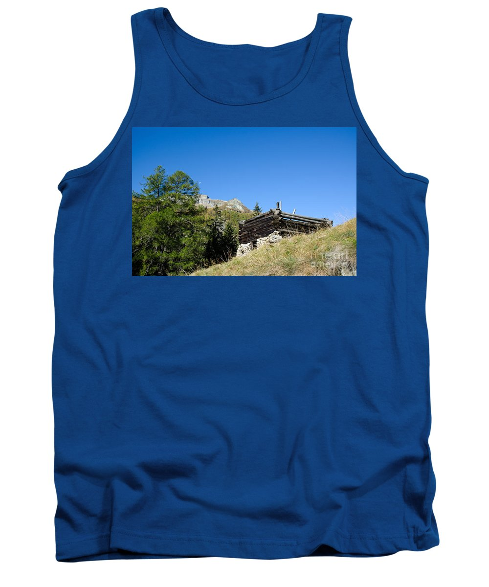 House Tank Top featuring the photograph Broken Rustic House by Mats Silvan