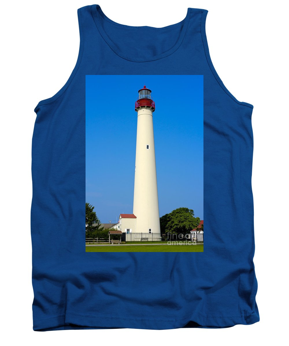 Lighthouses Tank Top featuring the photograph Cape May Lighthouse by Anthony Sacco