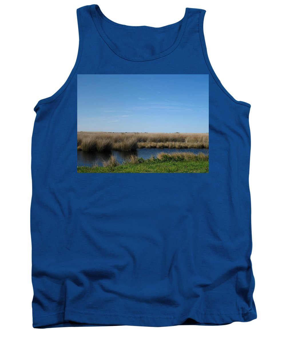 The Causeway Tank Top featuring the photograph Causeway by Shannon Louder