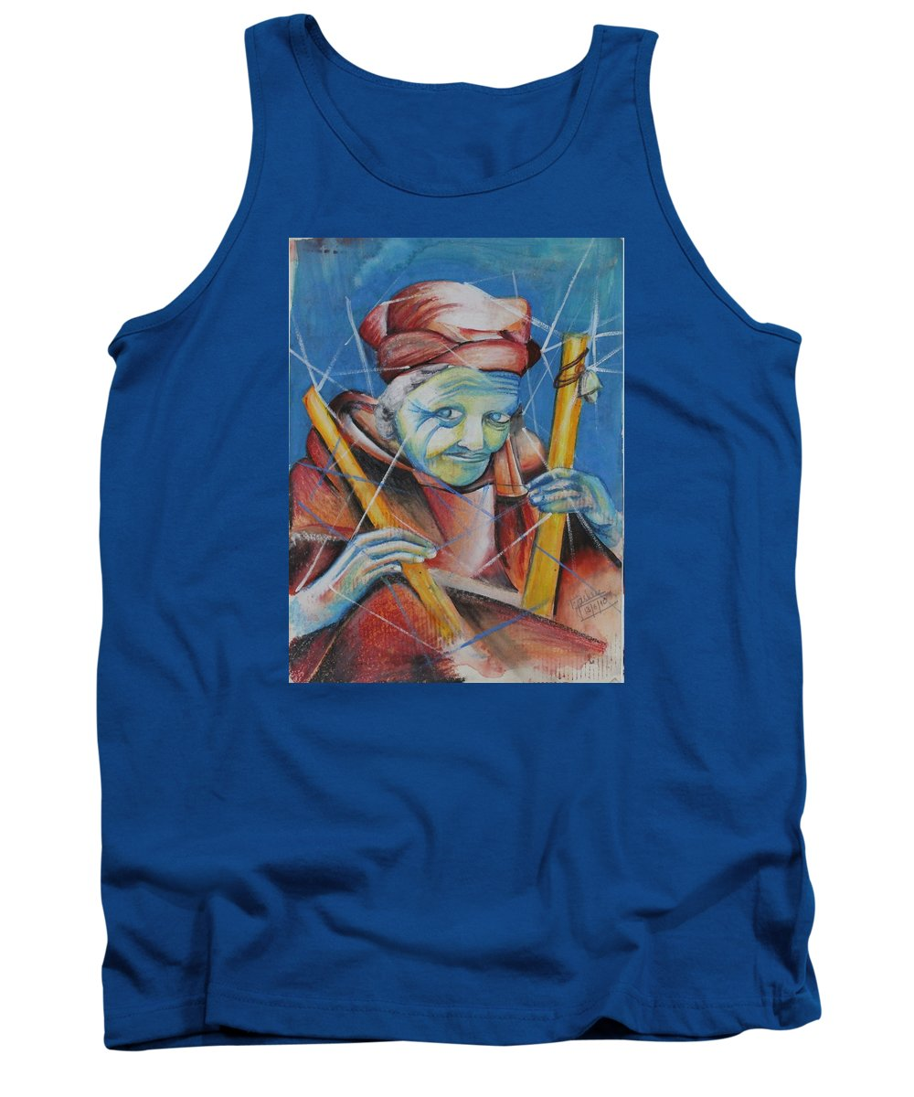Bright Colors Tank Top featuring the painting Charmer by Tejashree Aher
