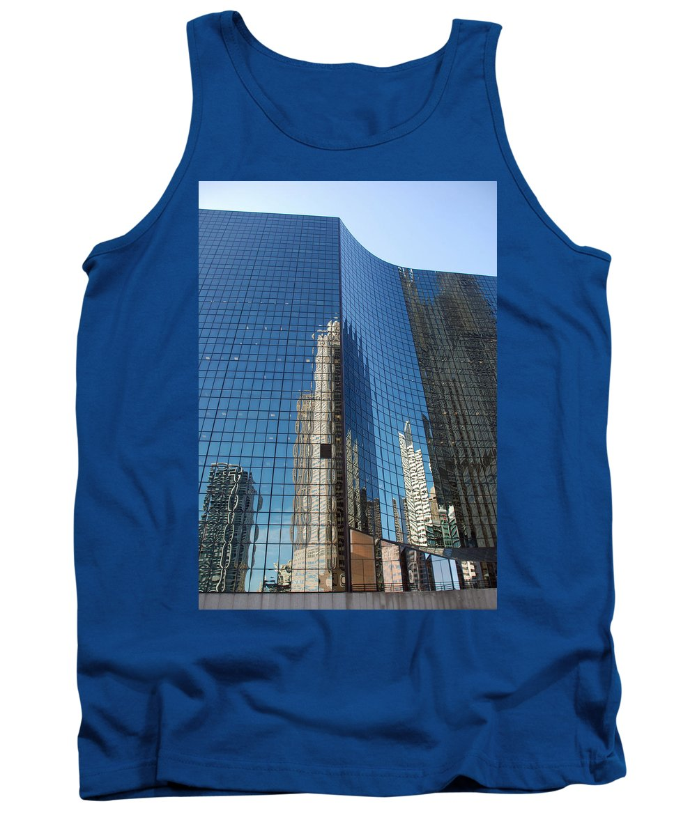 Architecture Tank Top featuring the photograph Chicago Reflections by Richard Bryce and Family
