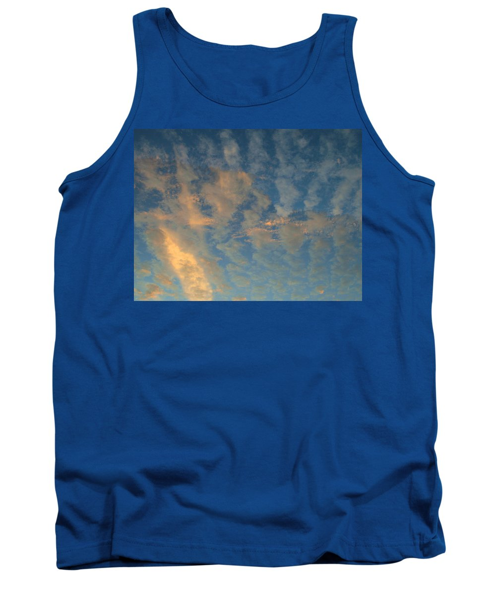 Cirrocumulus Morning Tank Top featuring the photograph Cirrocumulus Morning by Ellen Henneke