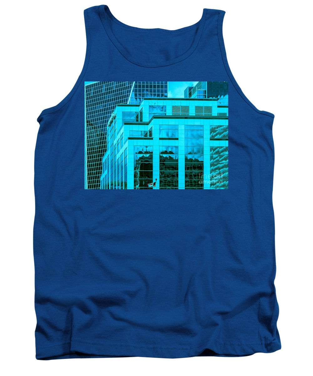 Cool Blue Tank Top featuring the photograph City Center-87 by David Fabian