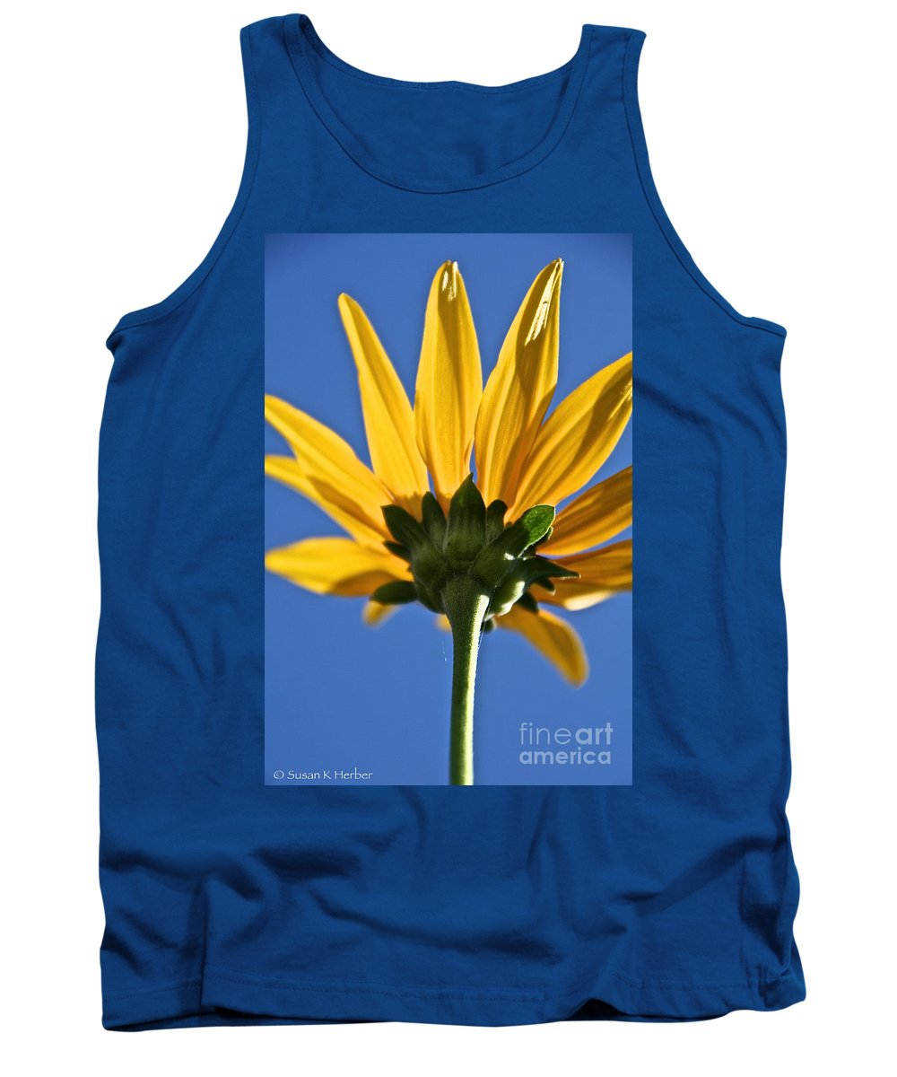 Flower Tank Top featuring the photograph Clearly by Susan Herber